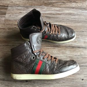 100% Authentic Men's Brown Gucci Shoes Size 11